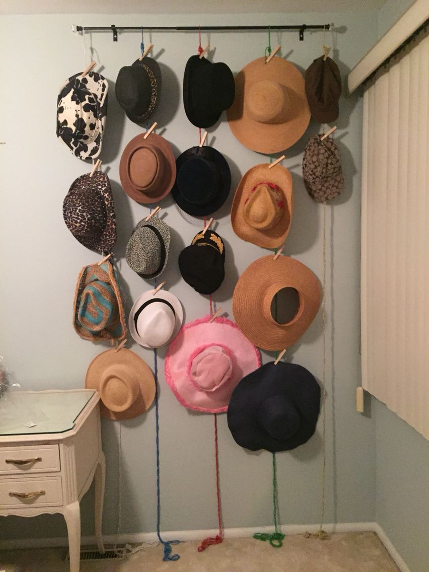 A great way to display your fabulous hats hat