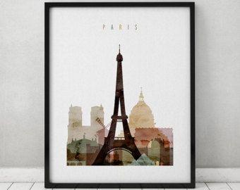 Paris Aquarell Print Paris Aquarell Poster Von ArtPrintsVicky