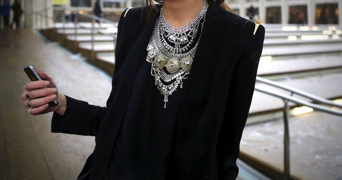 that necklace!  We Wore What: Hello NYFW