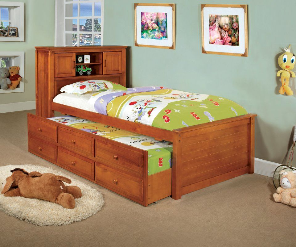 Chadwick Twin Rustic Captain Bed With Trundle Trundle Bed Twin