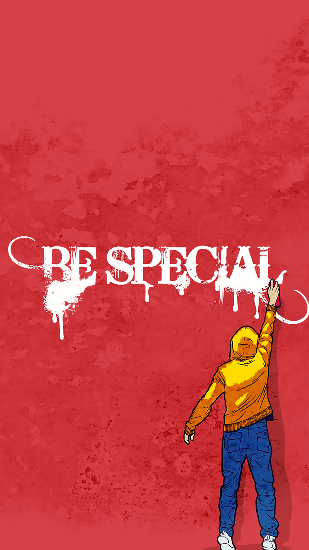 Art Creative Graffiti Walls Quotes Red Pink Guy HD IPhone 6 Plus Wallpaper