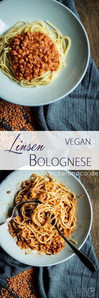 Pasta mit Linsen Bolognese #veganerezepte
