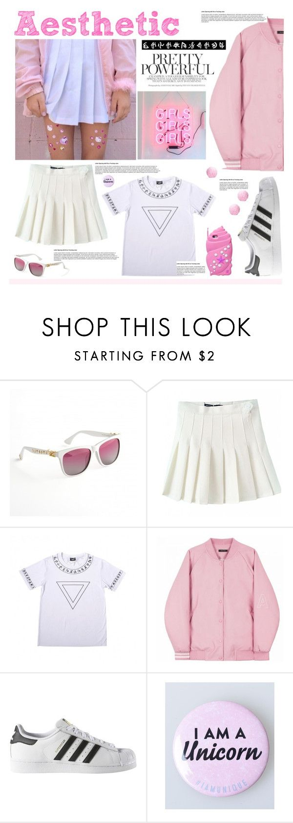 """Aesthetically  pleasing!"" by anitadanako ❤ liked on Polyvore featuring adidas, wigicollection and wigier"