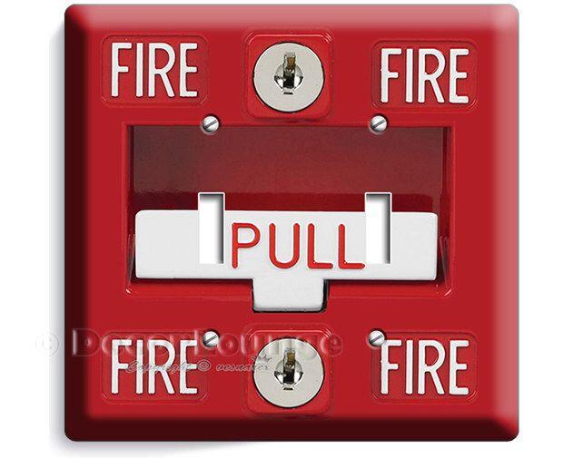 Fire Alarm Pull Down Design Double