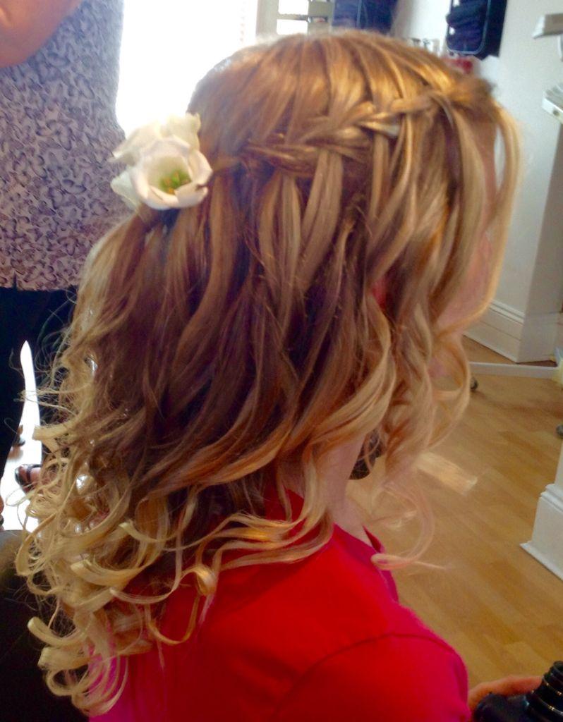 bridal hair waterfall braid with curls | hairstyles. www