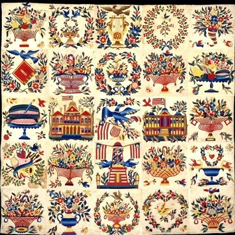Baltimore Album Quilt 1846 Made By Mary Simon Dar Museum
