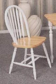 Set Of 4 Deluxe Windsor Style Chair With White Arrow Back Natural