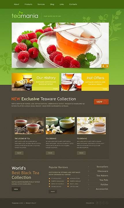 Online Tea Shop Website Template Web Layout Design Tea Website Online Tea Shop