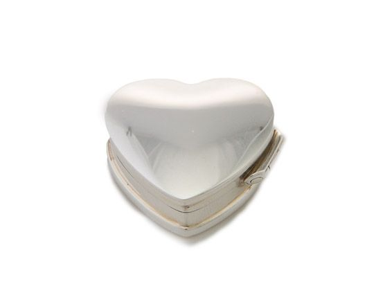 aafb7c6449e5 Unusual christening gifts - Silver Heart Fortune Box - Solid silver trinket  box