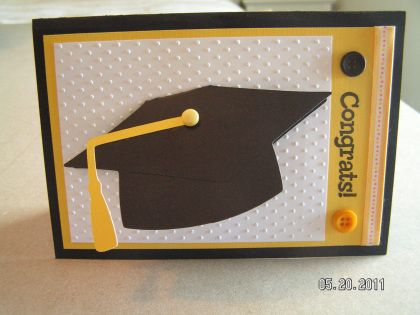 Grad Card in which the grad cap flips up