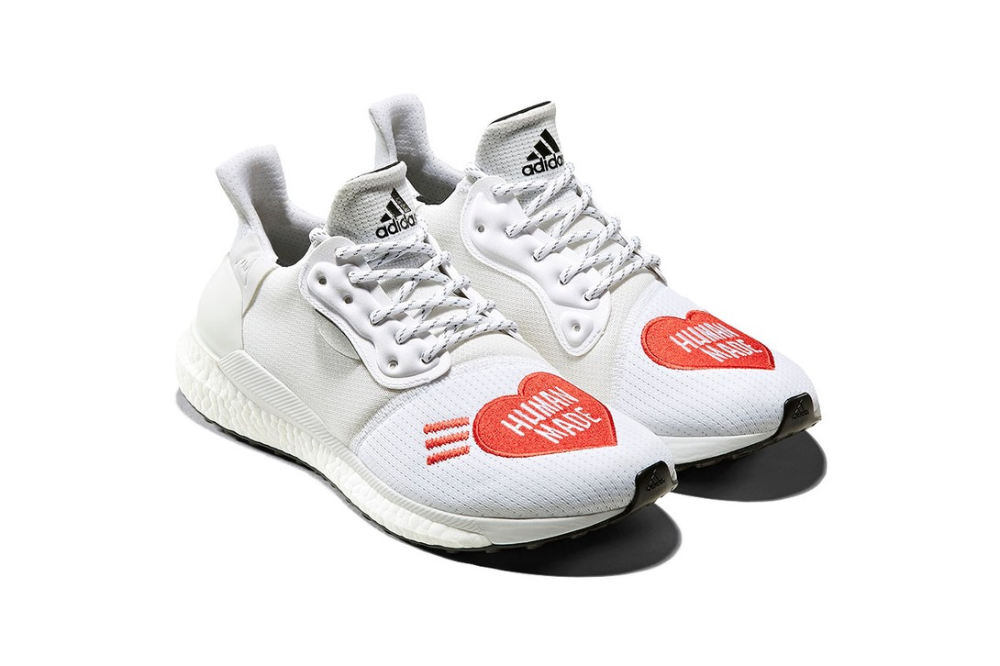 Pharrell And Nigo Deliver Three Collaborative Human Made X Adidas Hu Sneakers In 2020 Pharrell Nigo Pharrell Williams