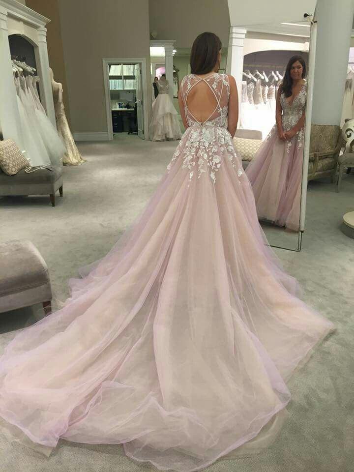V-Neck Appliques A-Line Prom Dresses de045f085813