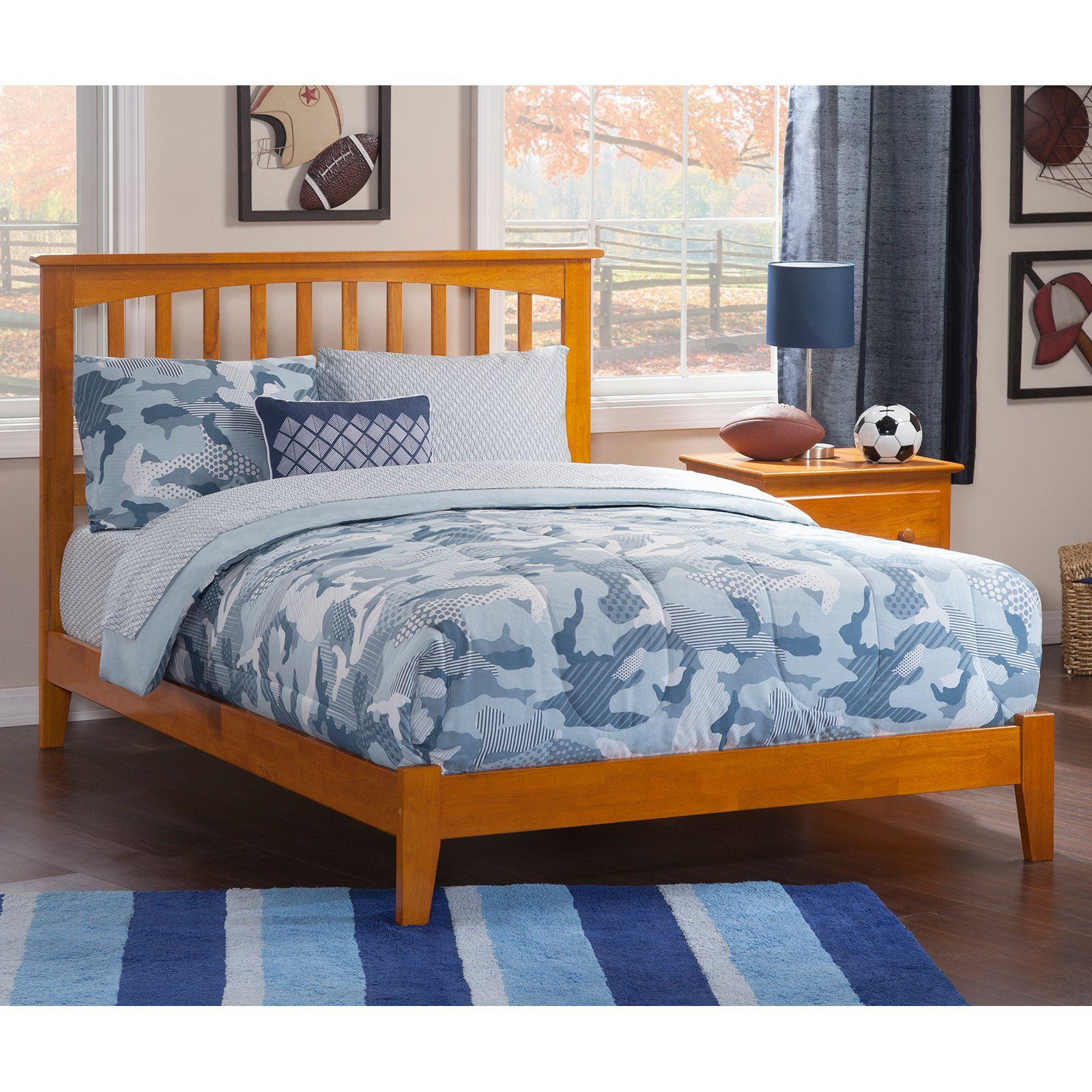 Atlantic Furniture Mission Traditional Platform Bed Caramel Size Full Atlantic Furniture Traditional Platform Beds Furniture