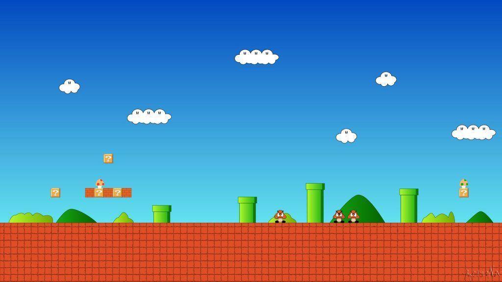 Super Mario Background 71 Full Hd Graphics New Wallpapers Desenhos Do Mario Ideias De Papel De Parede Cenario Para Videos