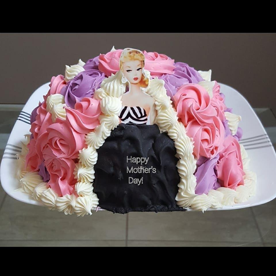 #50sbarbiecake #50sbarbie #originalbarbie #barbiecakes #mothersdaycake #cake #birthdaycakes