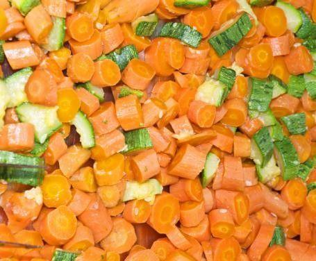 Zucchine e carote crude al balsamico