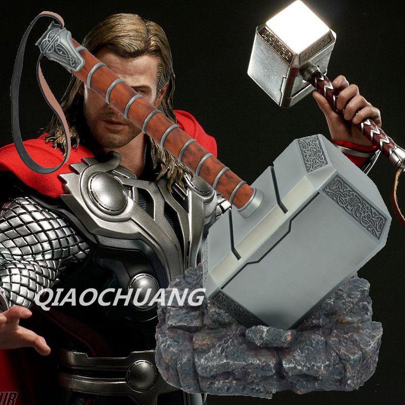 Click To Buy Avengers Weapon Superhero Thor Hammer Full Metal 1 1 Mjolnir Cosplay Hammer Thor Odinson Qu Marvel Infinity War Thors Hammer Marvel Infinity