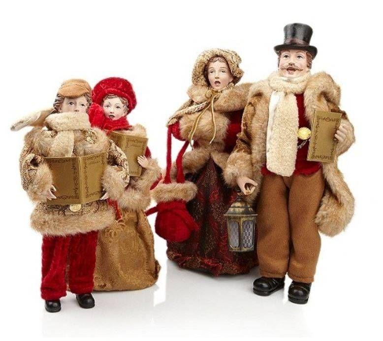 Christmas Carol Singers Figurines.Christmas Carolers Figurines Large Lane 16 Standing