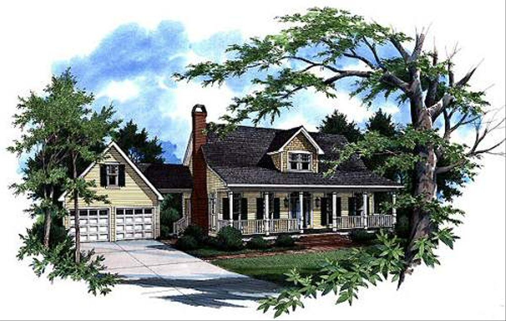 Country Style House Plan 4 Beds 2 5 Baths 1874 Sq Ft Plan 41 141 Country Style House Plans House Plans Farmhouse Country House Plan