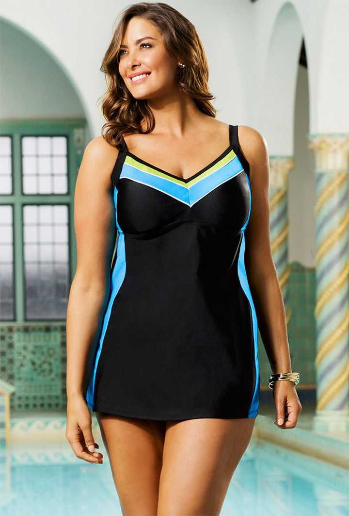 Deciding Plus Size Swim Dress Types - http://ustyledesign.com ...
