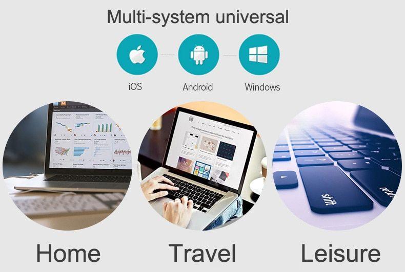 Slim portable mini wireless bluetooth keyboard for tablet