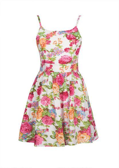 Delia's - Zip Back Floral Dress