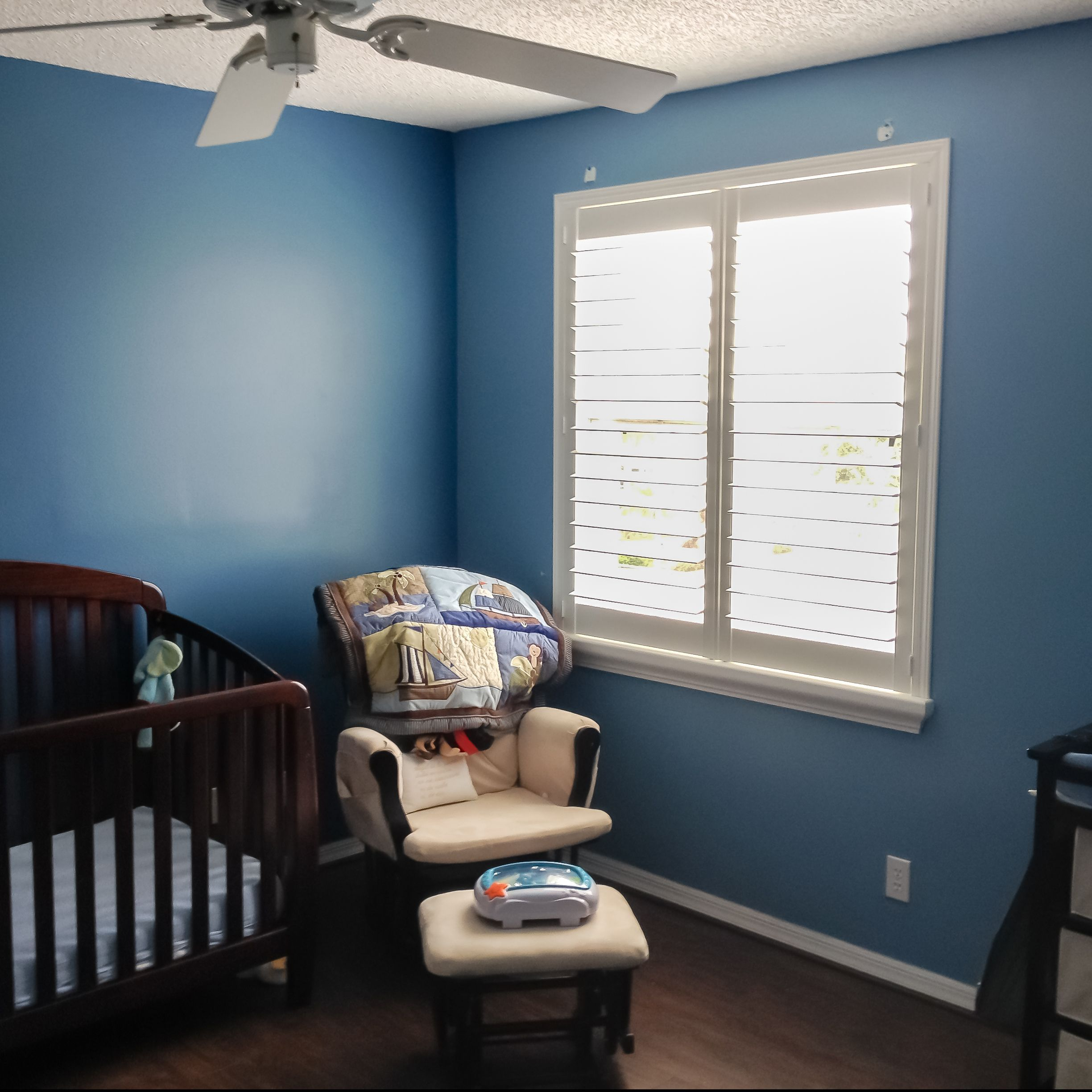 Plantation Shutters are a fabulous option for a nursery. This is a finished project in a Pemproke Pines residence. #blindsshadesandshutters #myblindstoday #windowtreatment #miami #homedecor #homedecormiami #interiordesign #condoliving #luxury #luxuryliving  #miamiliving #home #miamicondos #shutters #miamibest