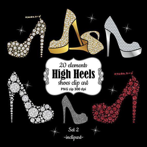 Shoe Clipart Ladies Girls Bridal High Heels Clipart By Inclipart Shoes Clipart Fashion Clipart Clip Art