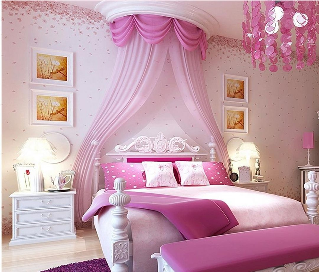 35 Pink Girly Bedroom Color Schemes That Will Make Everything More Joyful Dexorate Pink Bedroom For Girls Pink Bedroom Decor Pink Bedroom Walls
