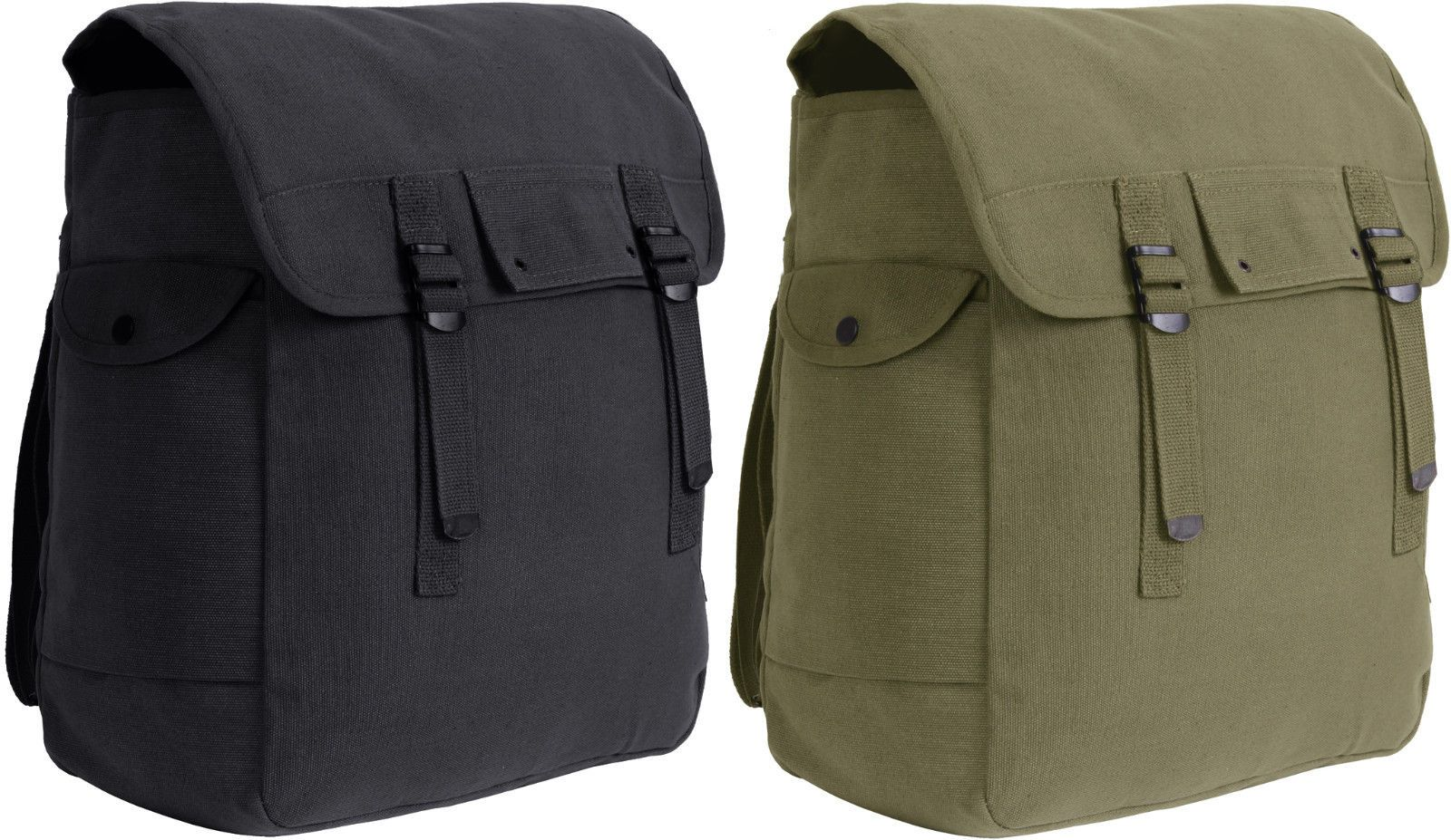 daff1fe90c5 Details about Jumbo Heavyweight Canvas Military Musette Bag 15