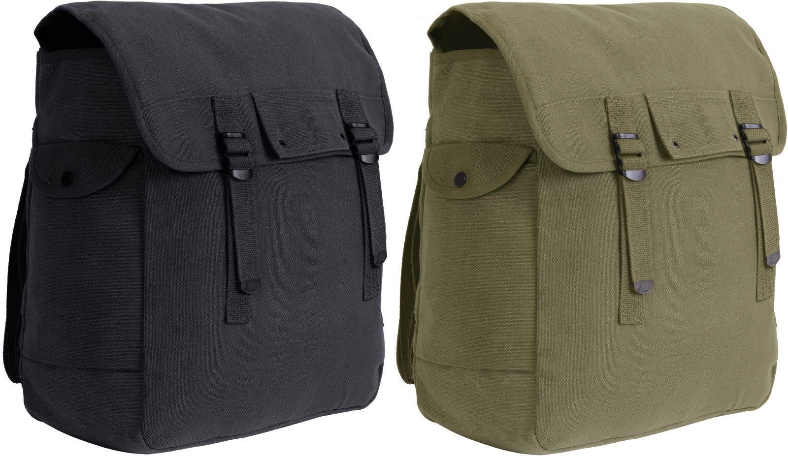 Jumbo Heavyweight Canvas Military Musette Bag 15