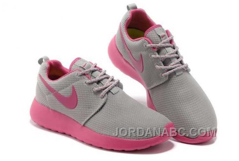 e5e0d5ddc51d Nike Roshe Run Junior Womens Gray Pink Shoes