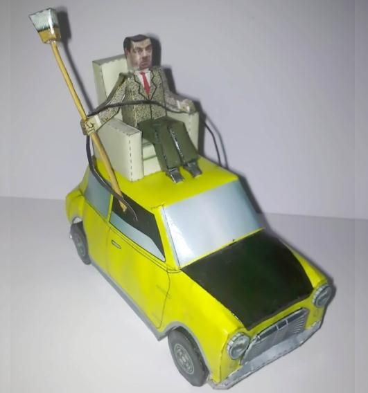 Mr bean and his car paper model by wong hidayat download this bean driving on top of his mini a famous scene from mr bean season 1 episode 10 do it yourself mr solutioingenieria Image collections