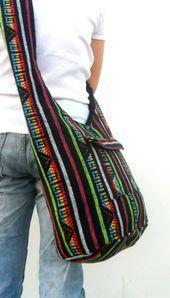 Schultertasche Boho Bag Bohemian Bag Hippie Hobo Green Multicolor Bag Umhängetasche Geldbörse Messenger Geschenktüte Umhängetasche Thai Bag  Products