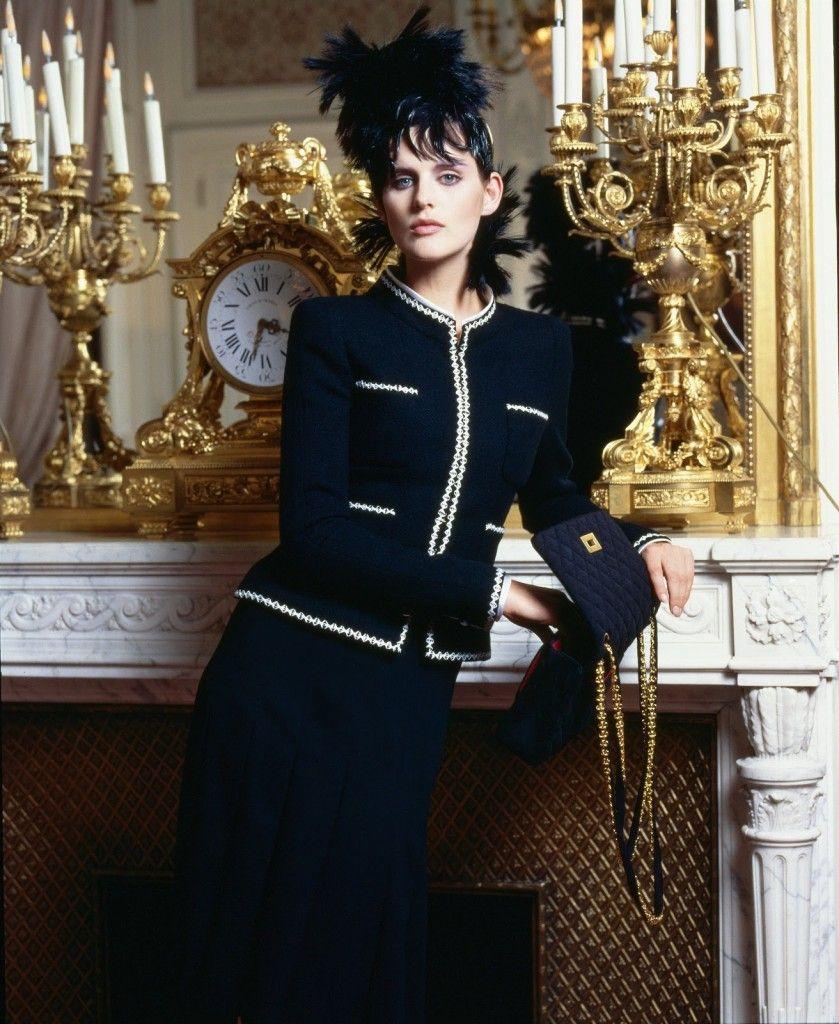 Veste chanel noire tweed