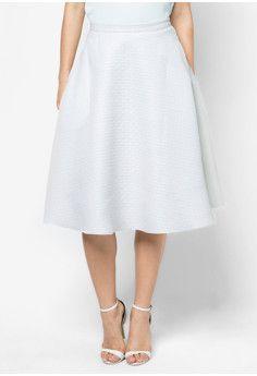 ZALORA Luxe A Line Midi Skirt #onlineshop #onlineshopping #lazadaphilippines #lazada #zaloraphilippines #zalora