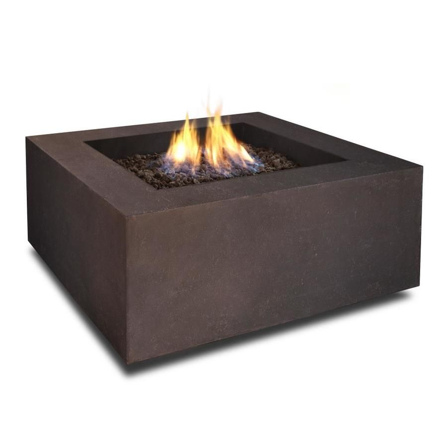 Real Flame 36 In W 50000 Btu Kodiak Brown Portable Composite Natural Gas Fire Table At Lowes Com Fire Table Gas Fire Table Propane Fire Pit Table