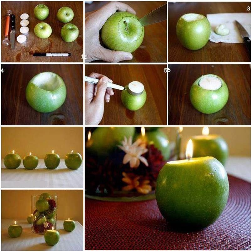 How to make apple candle holders