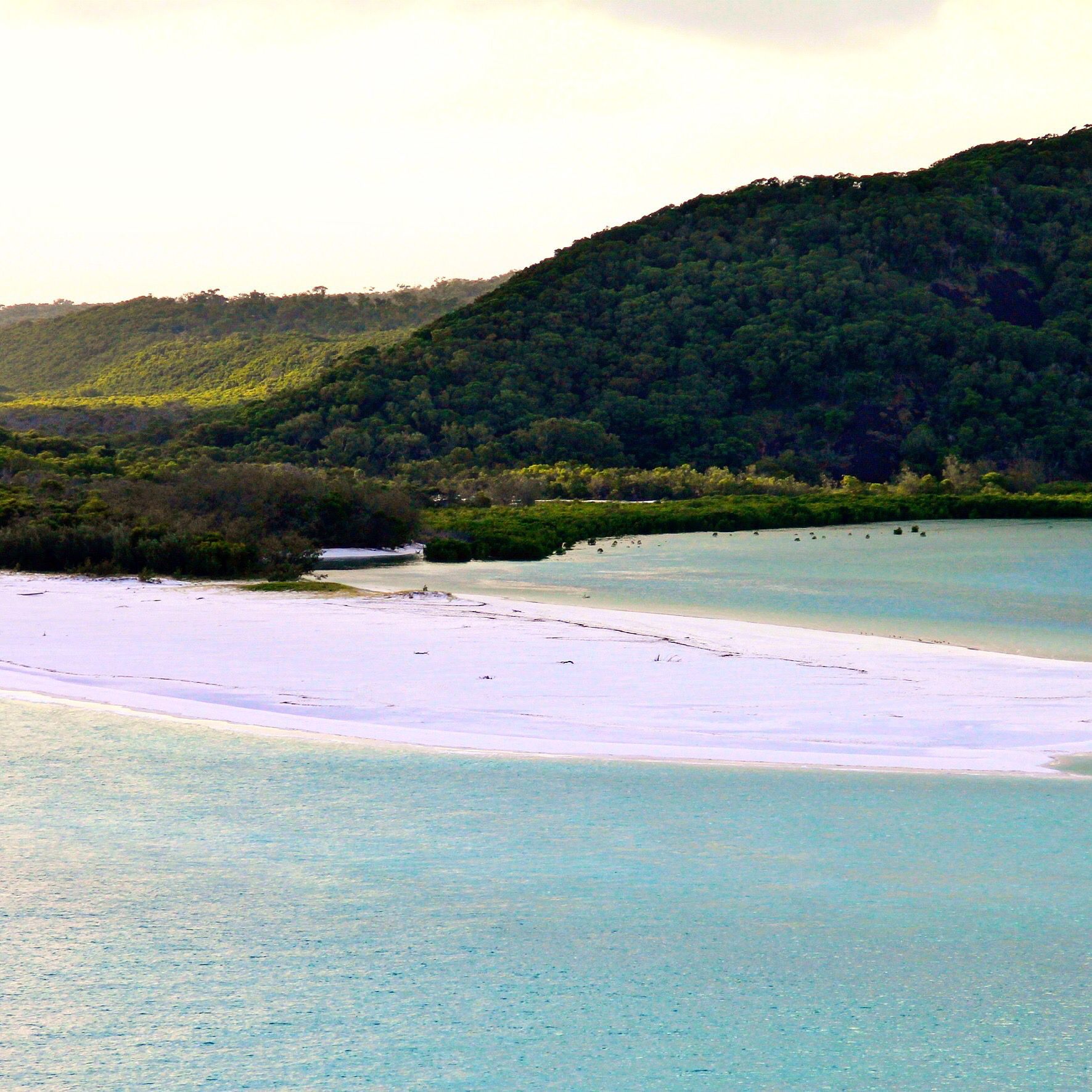 Deserted Island Beach: Deserted Beach That Is Not Accessible And Protected By The