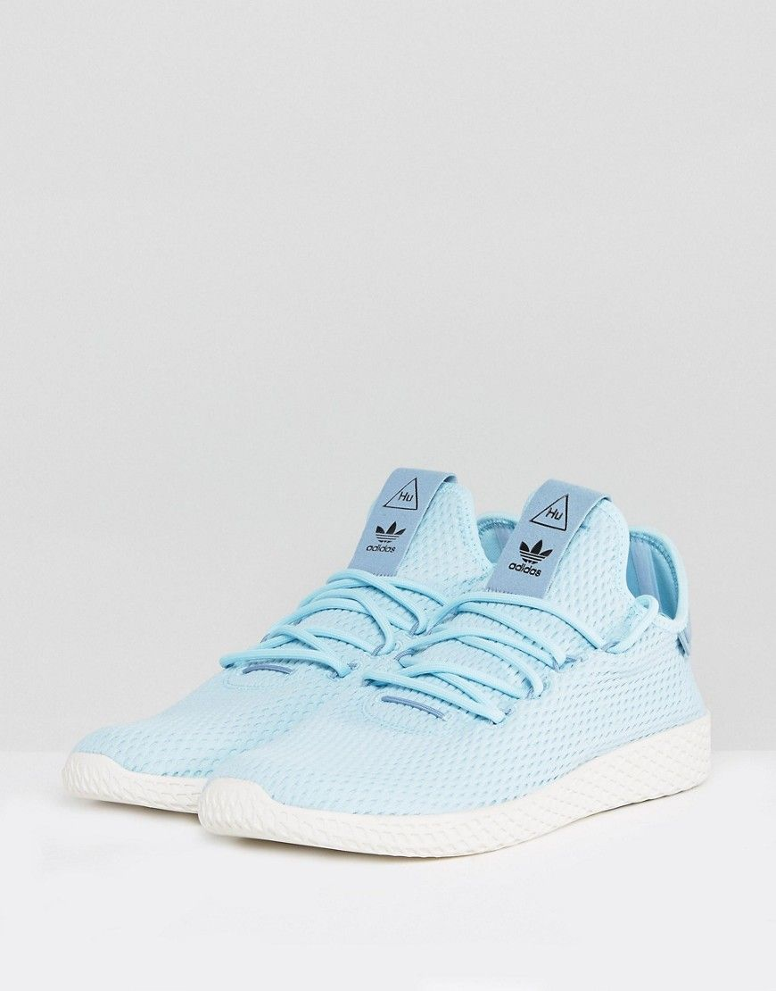 084337248 adidas Originals x Pharrell Williams Tennis HU Sneakers In Blue CP9764