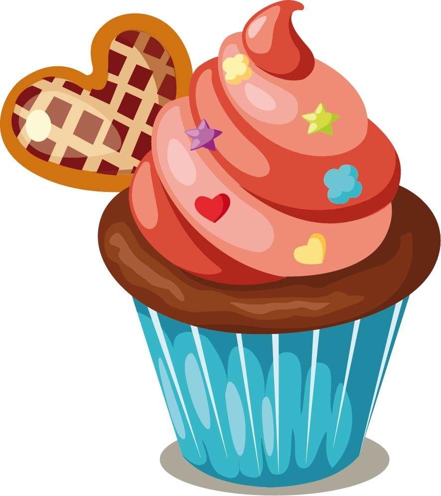 Autocollant 885 995 cupcakes pinterest - Dessin cupcake ...