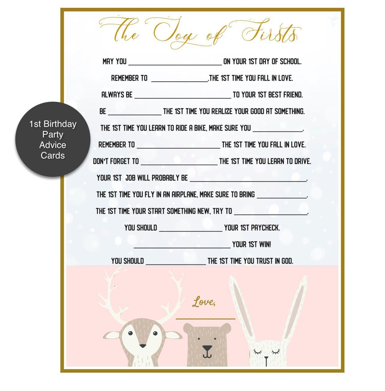 1st Birthday Party Game Advice From Family Friends Etsy In 2021 1st Birthday Party Games Birthday Games For Adults 1st Birthday Games
