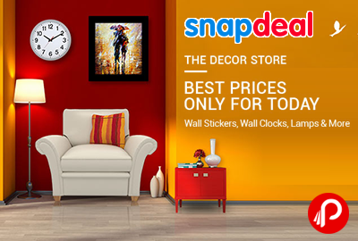 snapdeal brings the decor store and offering best price only for today in wall stickers - The Decor Store