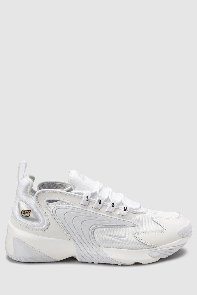 Mens Nike Zoom 2K Trainers - White | Nike zoom, Nike, Nike men