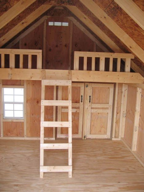 Outdoor Playhouse Plans With Loft More