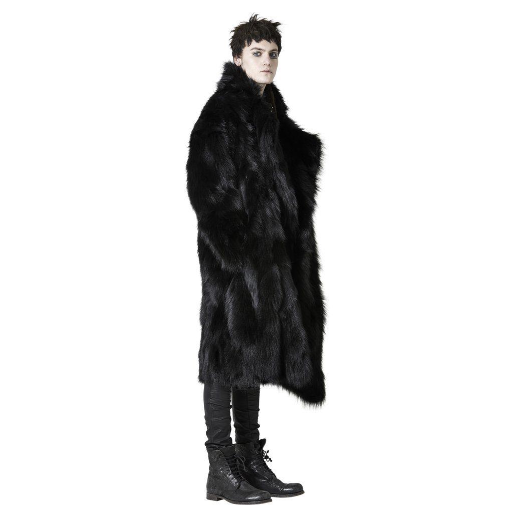 Shop Sustainable Luxury Avant-garde Designer Barbara I Gongini Unisex Black Ethical Coyote Fur Coat at Erebus