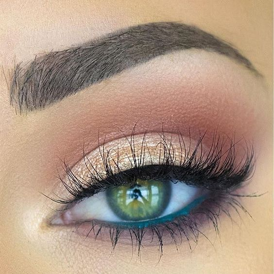 Green Eyeliner in Water Line Feel beautiful with customized skincare by roseandabbot.com Eyemakeup For