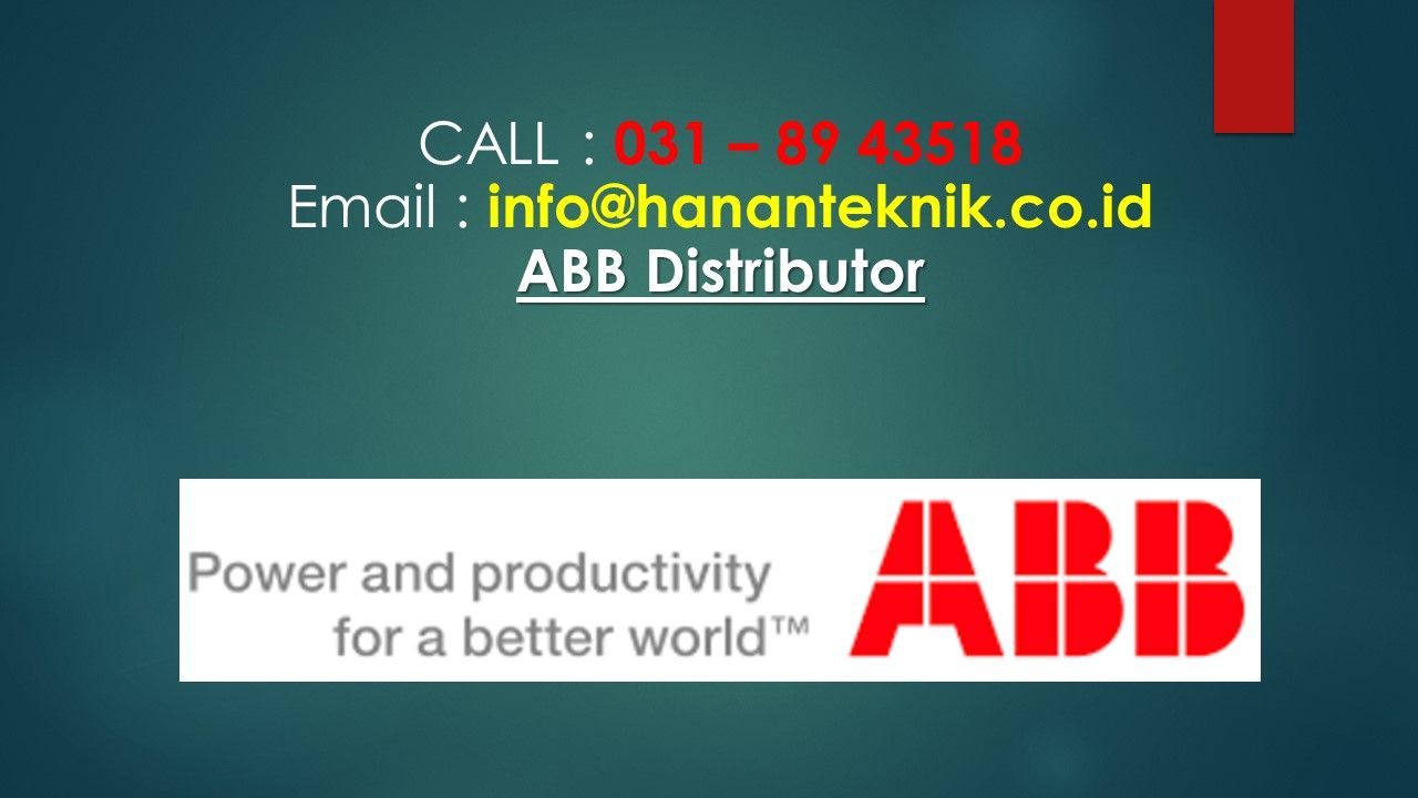 Distributor ABB, Distributor ABB indonesia terbaru