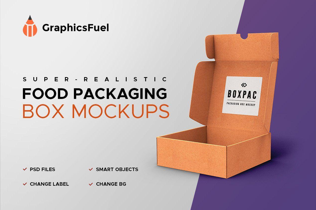 Download Food Packaging Box Mockups Food Box Packaging Packaging Mockup Food Packaging