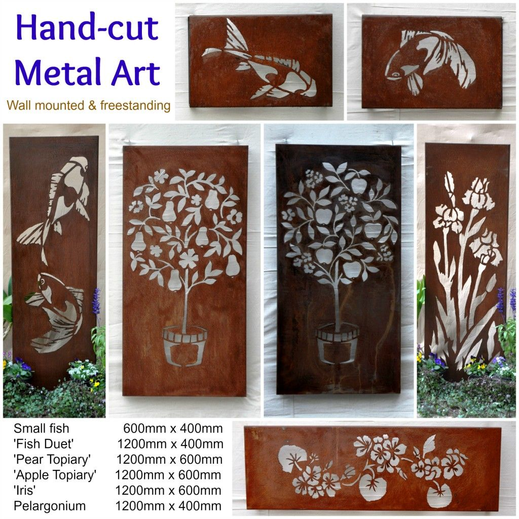 Unique hand cut metal art by designer & artist Tricia Hood